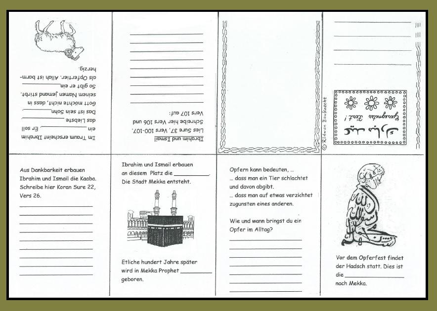 Arbeitsblatt Lunge Quran : Das opferfest zeit des teilens mit faltbuch buddy book
